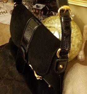 Part 2 Authentic Gucci Horsebit Suede Bag